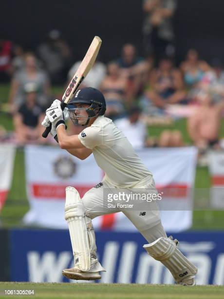 England batsman Rory Burns prepares to play the reverse sweep shot during Day One of the Second Test match between Sri Lanka and England at Pallekele...