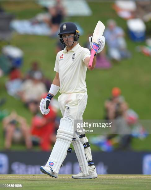 England batsman Rory Burns reaches his 50 during Day Three of the First Test match between England and South Africa at SuperSport Park on December 28...