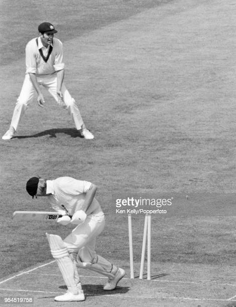 England batsman Tony Greig is bowled for 5 runs during the 1st Test match between England and Australia at Lord's Cricket Ground London 16th June...