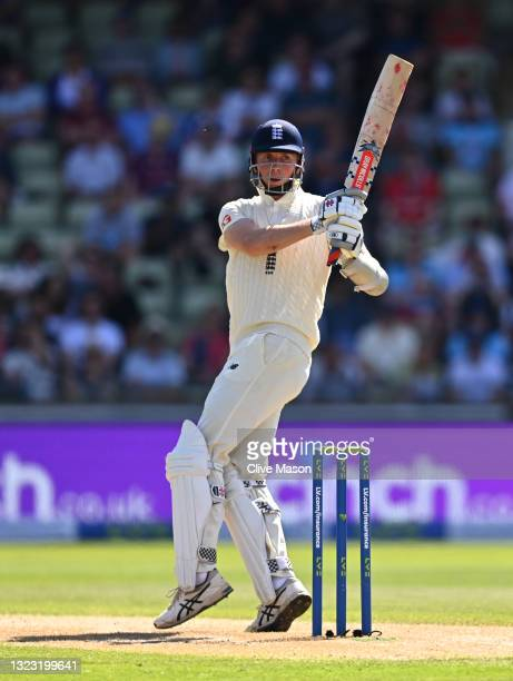 England batsman Zak Crawley in batting action during day three of the second LV= Insurance Test Match between England and New Zealand at Edgbaston on...