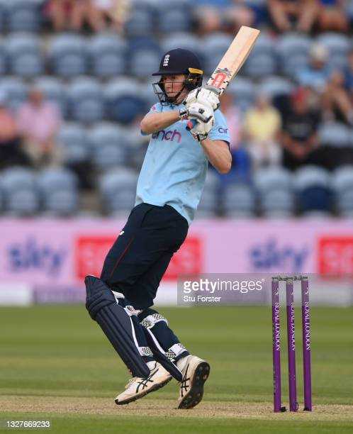 England batsman Zak Crawley in batting action during the 1st Royal London Series One Day International between England and Pakistan at Sophia Gardens...