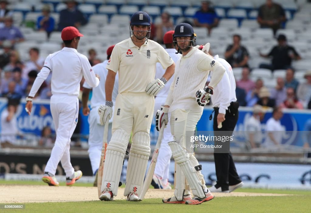 CRICKET-TEST-ENG-WIS : News Photo