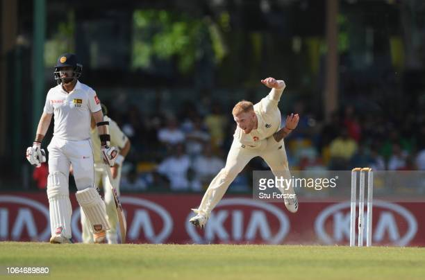 England bowler Ben Stokes in action during Day Two of the Third Test match between Sri Lanka and England at Sinhalese Sports Club on November 24 2018...
