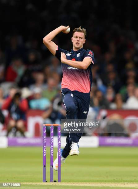 England bowler Jake Ball in action during the 3rd Royal London Cup match between England and South Africa at Lord's Cricket Ground on May 29 2017 in...