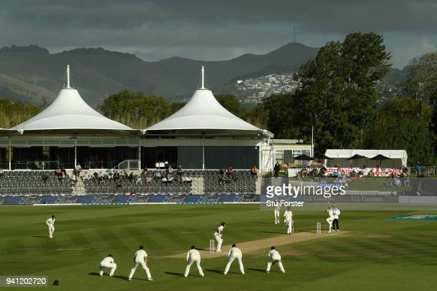 England bowler James Anderson bowls as England look for their seventh wicket in the final session of the match during day five of the Second Test...