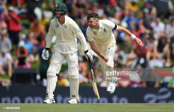 England bowler James Anderson in action during Day One of the First Test match between England and South Africa at SuperSport Park on December 26,...