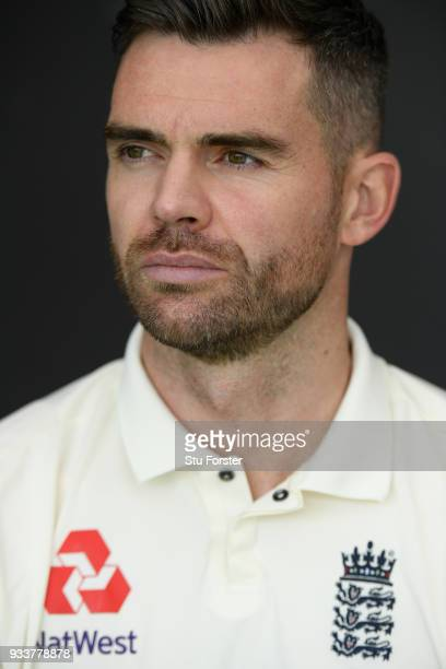 England bowler James Anderson pictured during England nets ahead of their first warm up match at Seddon Park on March 13 2018 in Hamilton New Zealand