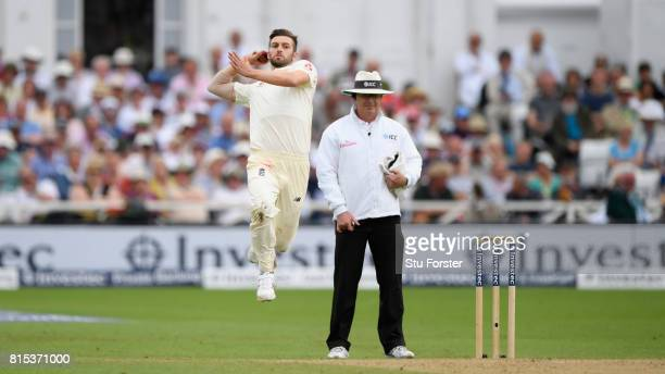 England bowler Mark Wood in action during day three of the 2nd Investec Test match between England and South Africa at Trent Bridge on July 16 2017...