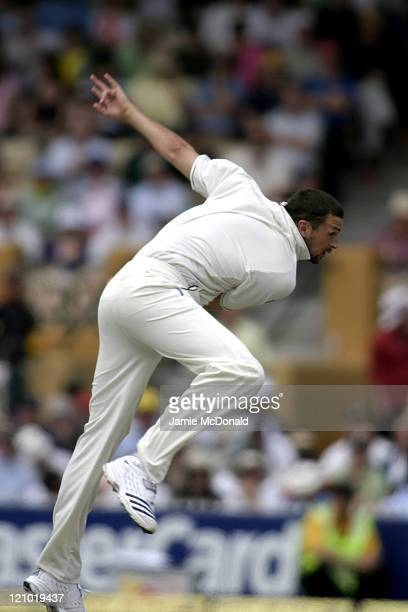 England bowler Steve Harmison in Day Three of the Second Ashes Test at the Adelaide Oval Australia December 3 2006
