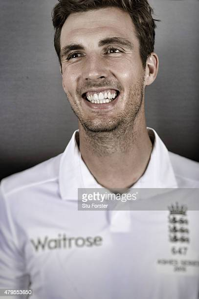 England bowler Steven Finn poses for a picture at the Swalec stadium on July 5 2015 in Cardiff Wales