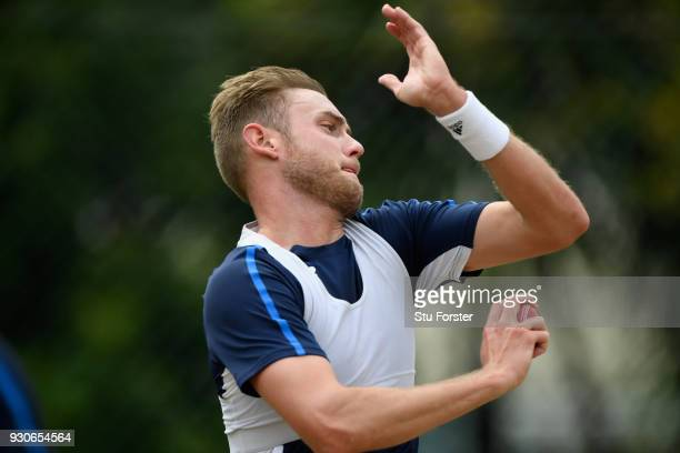 England bowler Stuart Broad in action during England nets ahead of their first warm up match at Seddon Park on March 12 2018 in Hamilton New Zealand