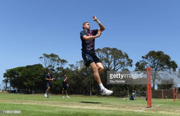 England bowler Stuart Broad in bowling action during England nets at St George's Park on January 12, 2020 in Port Elizabeth, South Africa.