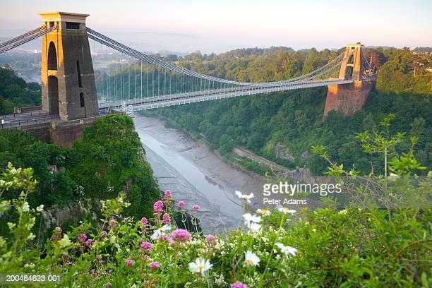 england, bristol, clifton, clifton suspension bridge - bristol stock photos and pictures