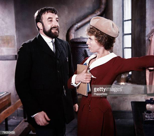 """England British actor Peter Sellers and actress Billie Whitelaw are pictured in a scene from the film """"Mr Topaze"""""""