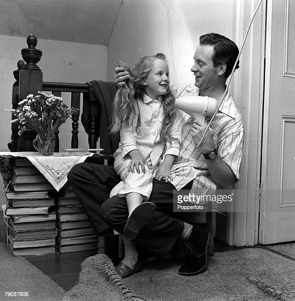 England British actor Tony Britton is pictured with his daughter Cherry