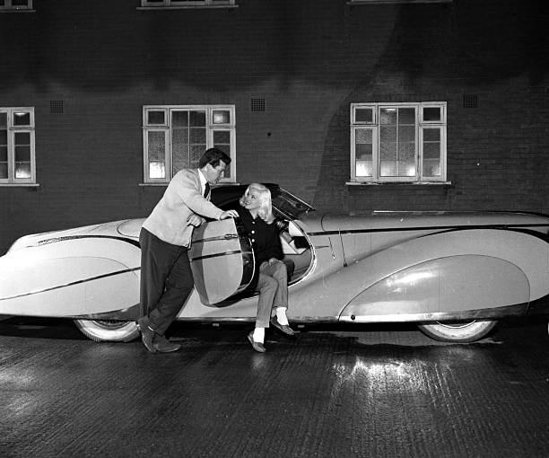 England. 1955. British Actress Diana Dors Is Pictured With
