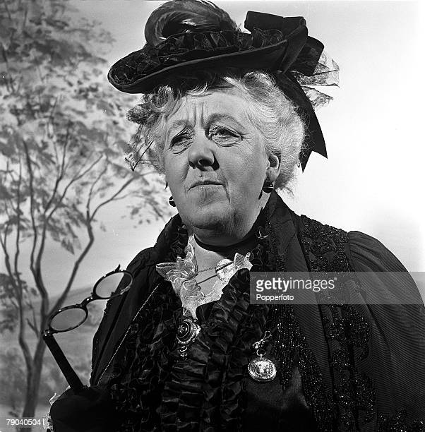 England British actress Margaret Rutherford is pictured in a scene from the film 'The Magic Box'