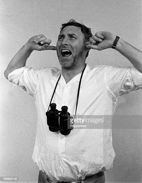 "England British comedian and actor Spike Milligan is pictured on the set of the ITV television show ""Son of Fred"""