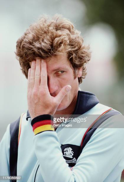 England captain Bob Willis reacts dejectedly wearing the MCC England tracksuit top during the 1982/83 Ashes tour to Australia