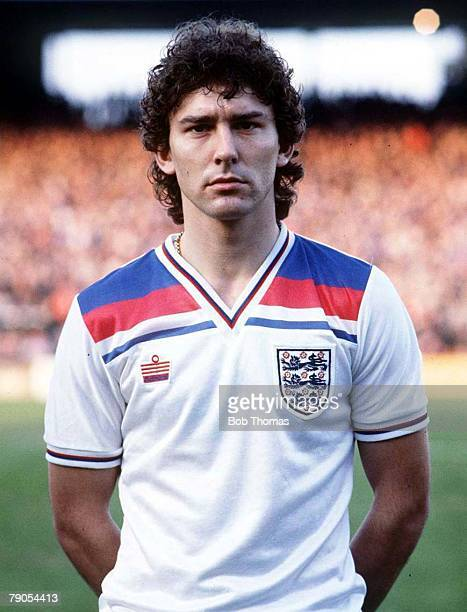 1983 England captain Bryan Robson's early days as an England player seen here before a 1983 game against Wales