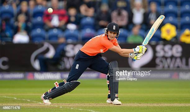 England captain Charlotte Edwards bats during of the 3rd NatWest T20 of the Women's Ashes Series between England and Australia Women at SWALEC...