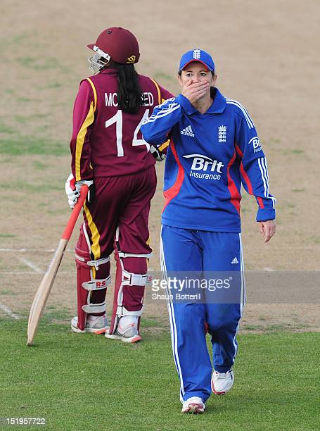 England captain Charlotte Edwards during the NatWest Women's International match between England Women and West Indies Women at Wantage Road on...