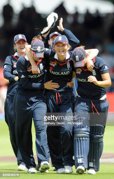 England captain Charlotte Edwards leads the team on a lap of honour after beating New Zealand during the Final of the Womens ICC World Twenty20 at...