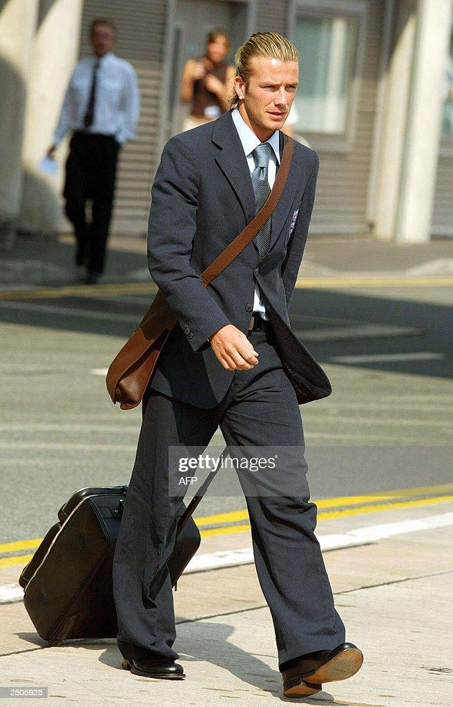 England captain David Beckham walks 04 September 2003 at ...