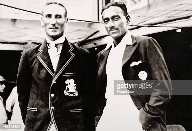 England captain Douglas Jardine with the captain of India CK Nayudu prior to the 2nd Test match between India and the MCC England touring team, 5th...