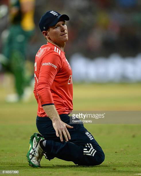 England captain Eoin Morgan during the ICC World Twenty20 India 2016 Super 10s Group 1 match between South Africa and England at Wankhede Stadium on...