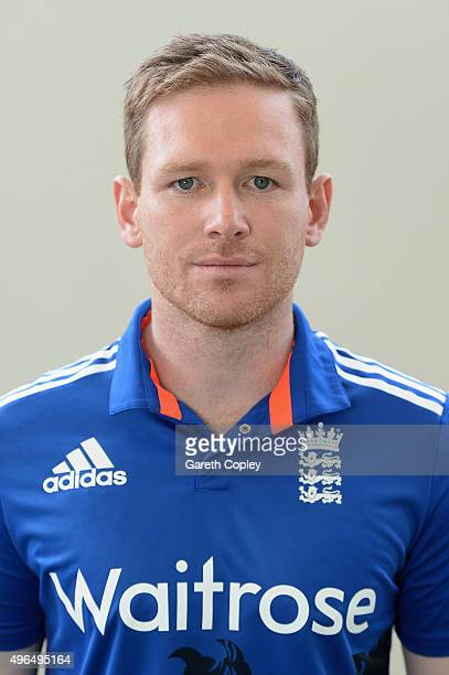 England captain Eoin Morgan poses for a portrait at Zayed Cricket Stadium on November 10 2015 in Abu Dhabi United Arab Emirates