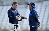 england captain eoin morgan speaks with