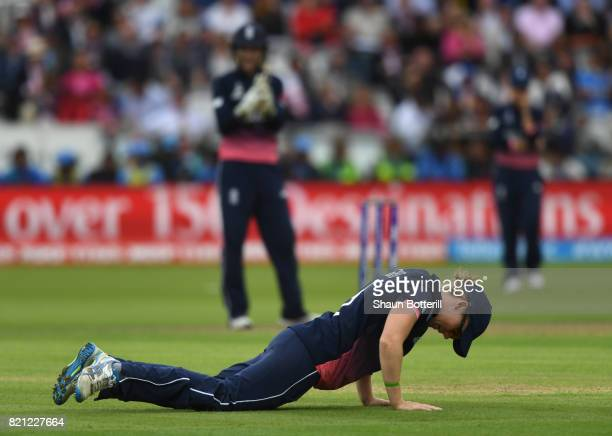 England captain Heather Knight during the ICC Women's World Cup 2017 Final between England and India at Lord's Cricket Ground on July 23 2017 in...