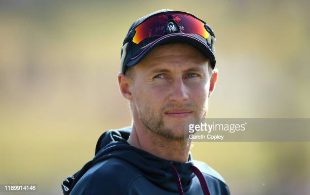 England captain Joe Root after losing the first Test match between New Zealand and England at Bay Oval on November 25 2019 in Mount Maunganui New...