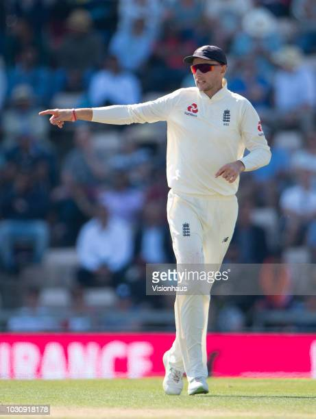 England Captain Joe Root during the 4th Specsavers Test Match between England and India at The Ageas Bowl on September 2 2018 in Southampton England