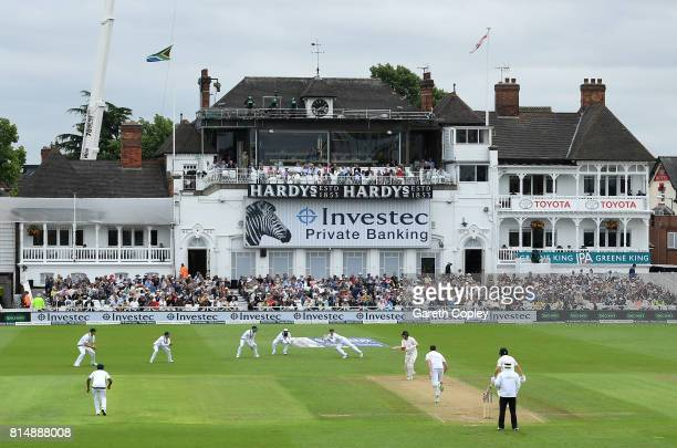 England captain Joe Root is caught behind by Quinton de Kock from the bowling Morne Morkel of South Africa during day two of the 2nd Investec Test...
