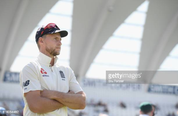 England captain Joe Root looks on after day four of the 2nd Investec Test match between England and South Africa at Trent Bridge on July 17 2017 in...