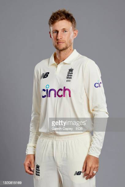 England captain Joe Root of England poses during a portrait session at Lord's Cricket Ground on May 30, 2021 in London, England.