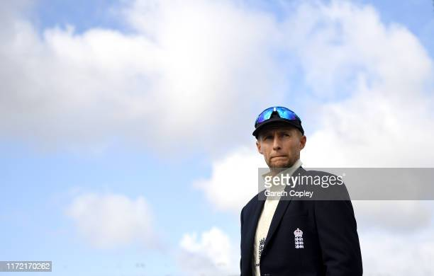England captain Joe Root reacts after losing the toss ahead of day one of the 4th Specsavers Ashes Test between England and Australia at Old Trafford...