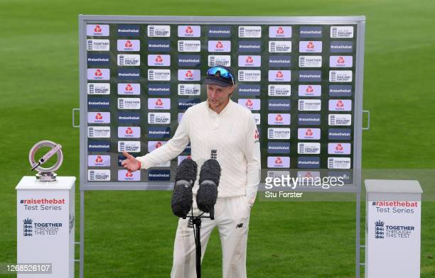 England captain Joe Root speaks to Sky Sports after Day Five of the 3rd #RaiseTheBat Test Match between England and Pakistan at the Ageas Bowl on...