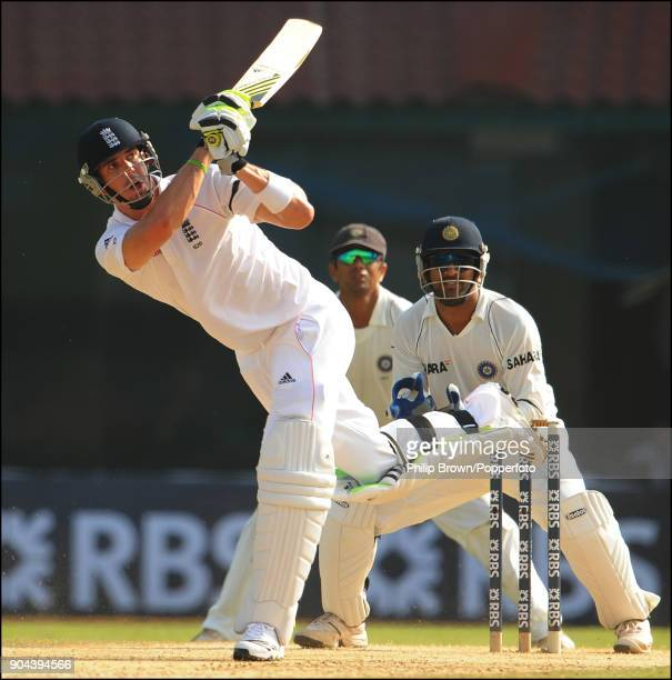 England captain Kevin Pietersen batting during the 1st Test match between India and England at MA Chidambaram Stadium Chennai India 11th December...