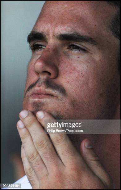 England captain Kevin Pietersen thinking about tactics during the 1st Test match between India and England at MA Chidambaram Stadium Chennai India...