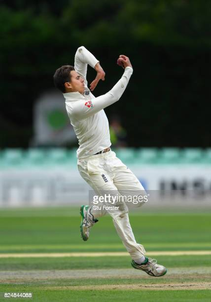 England captain Max Holden in action during day one of the Second Under 19s Youth Test Series between England and India at New Road on July 31 2017...