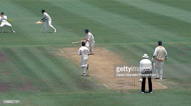 England captain Michael Atherton is out for 67 caught by Mark Taylor off the bowling of Damien Fleming during the 3rd Test match at the Sydney...