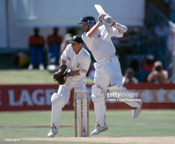 England captain Mike Atherton batting during his innings of 72 runs in the 4th Test match between South Africa and England at St George's Park, Port...