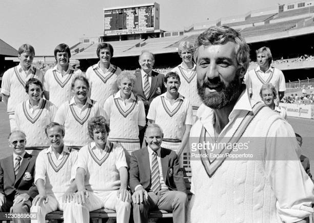 England captain Mike Brearley and the England touring party during the 3rd Test match between Australia and England at the MCG, Melbourne, 3rd...