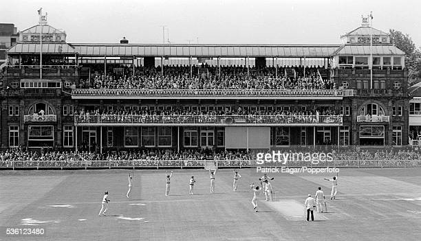 England captain Mike Brearley is out caught by Richie Robinson of Australia off the bowling of Jeff Thomson for 9 runs during the 1st Ashes Test...