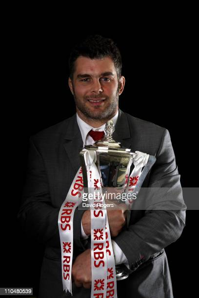 England captain Nick Easter poses with the RBS 6 Nations trophy following the RBS 6 Nations Championship match between Ireland and England at the...