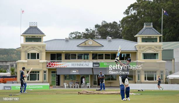 England captain Stuart Broad walks to the nets during a nets session at Cobham Oval on February 2 2013 in Whangarei New Zealand