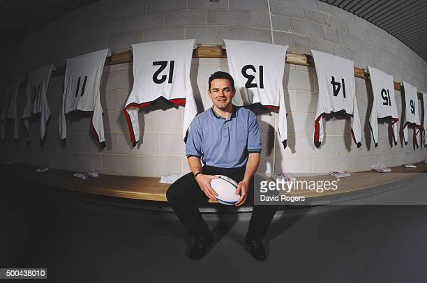 England captain Will Carling pictured in the home dressing room at Twickenham on March 17 1995 in Twickenham England